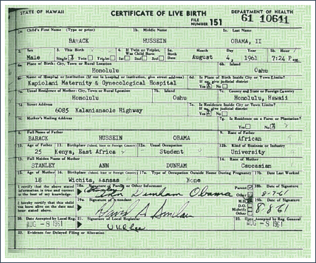 President Barack Obama Releases Hawaii Birth Certificate to Silence ...