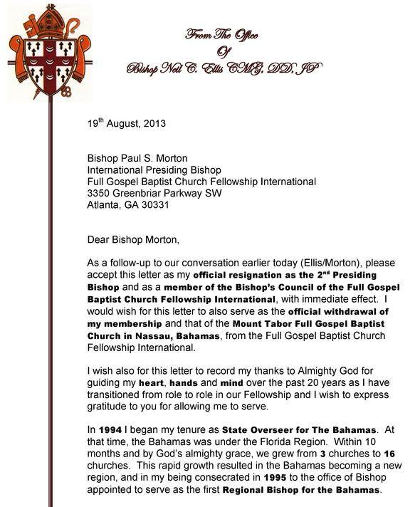 Image Result For Resignation Letter From