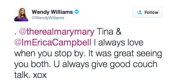 Wendy Williams had this to say after Mary Mary's Visit to her show…