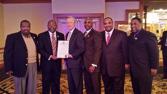 PHOTO - GUF Receiving Mayoral Proclamation in Winston Salem, NC