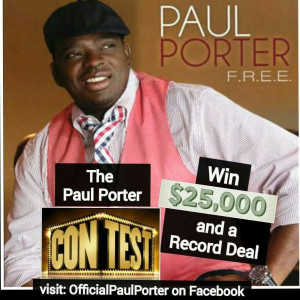 Paul Porter Announces Contest, WIN $25,000 and a Record Deal with Mars On Sunday