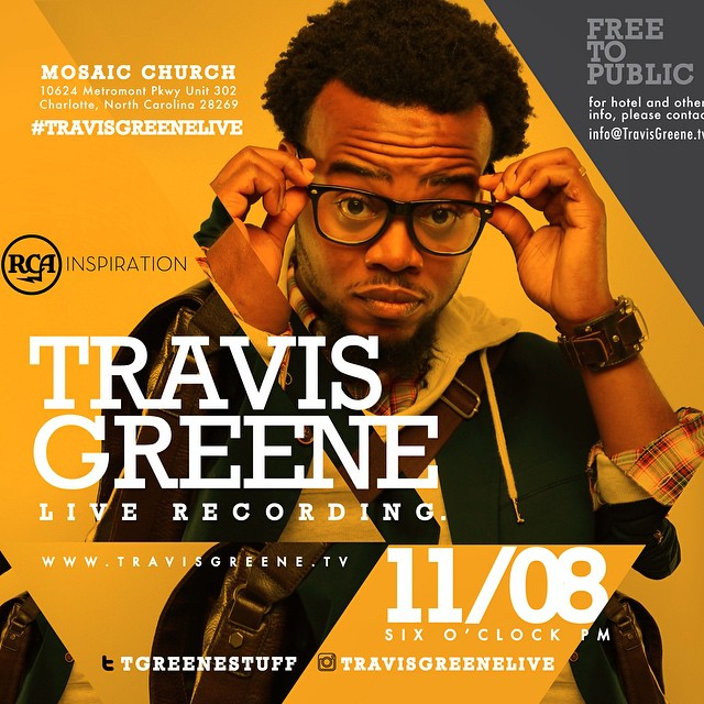 Buzzed-about singer-songwriter Travis Greene to Record Live Album in Charlotte