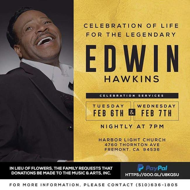 """Oh Happy Day"" Singer EDWIN HAWKINS Dies at 74"