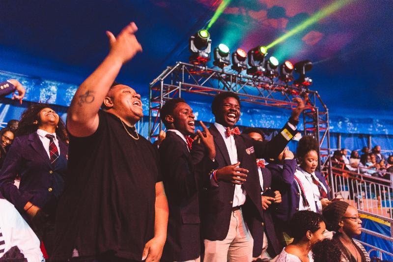 Tedashii Hosts Harvard Debate Council Diversity Program Students at Universoul Circus