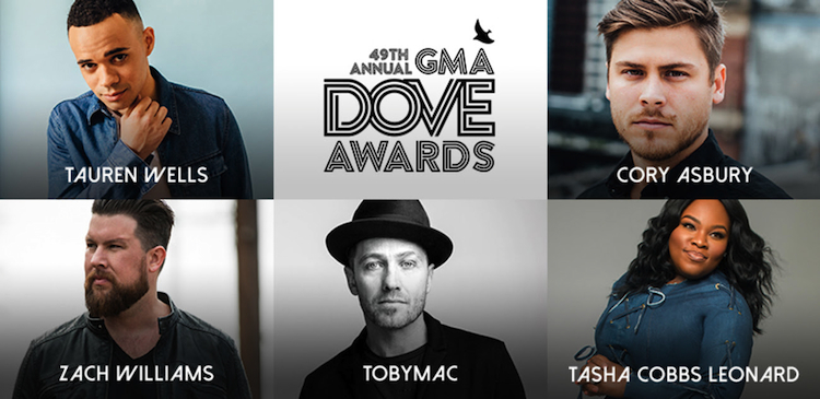 49th Annual DOVE AWARDS Announce Nominees